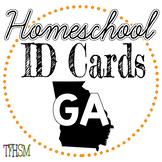 Georgia (GA) Homeschool ID Cards for Teachers and Students