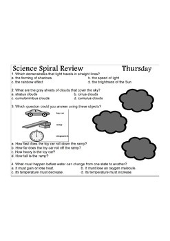Georgia (GPS) 4th Grade Science Spiral 10 – Differentiated