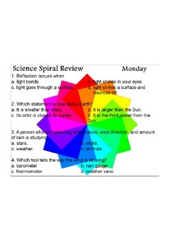 Georgia (GPS) 4th Grade Science Spiral 11 - Differentiated