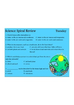 Georgia (GPS) 4th Grade Science Spiral 6 - Differentiated
