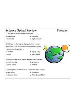 Georgia (GPS) 4th Grade Science Spiral 8 - Differentiated