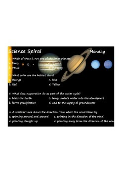 Georgia (GPS) 4th Grade Science Spiral - Differentiated