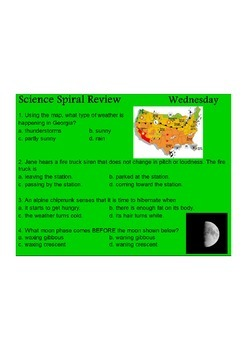 Georgia (GPS) 4th Grade Science Spiral Differentiated – BUNDLE