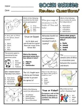 Georgia Social Studies 7th Grade Review Worksheet