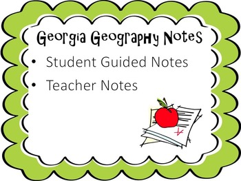 Georgia Geography Notes