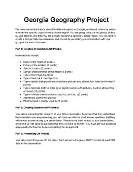 Georgia Geography Project