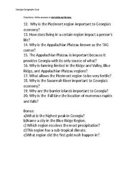 Georgia Geography Quiz