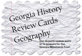 Georgia Geography Review Cards