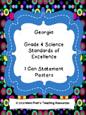 Georgia Grade 4 Science Anchor Charts - SOL I Can Statement Posters