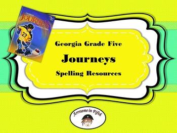 Georgia Grade 5 Journeys Unit 1 Spelling Resources SMART File