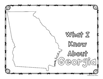 Georgia Graphic Organizers (Perfect for KWL charts and geography!)