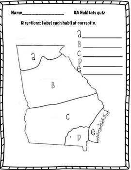 Georgia Habitat quiz