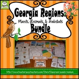 Georgia Regions: Plants, Animals, and Habitats Bundle (Includes Task Cards)