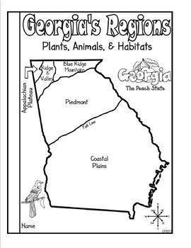 Georgia Regions: Plants, Animals, and Habitats (Includes Task Cards)