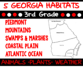 3rd Science Georgia Habitats Bundle: Piedmont, Mountains, Swamps and more