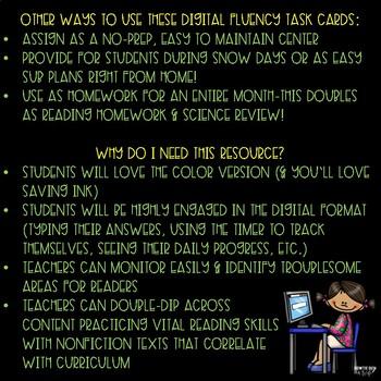 Georgia Habitats Digital Fluency & Comprehension Task Cards