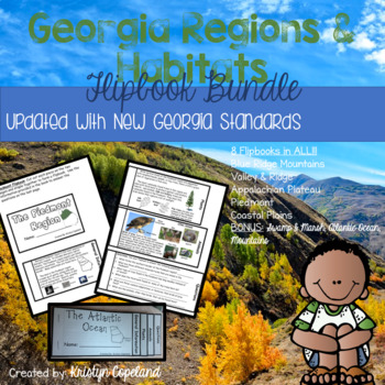 Georgia Habitats Flipbooks Pack (Interactive Notebooks)