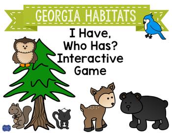 "Georgia Habitats Interactive Vocabulary Game ""I Have, Who"