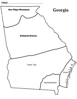 Georgia Habitats Map of Georgia