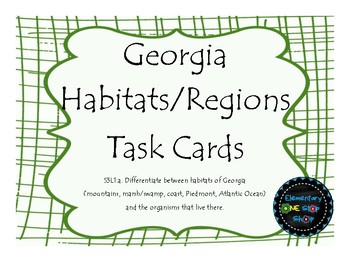 Georgia Habitats/Regions Task Cards