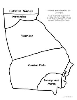 Georgia Habitats Shape Book