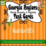 Georgia Regions: Plants, Animals, and Habitats Task Cards