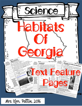 Georgia Habitats Text Features Pages - ELA & SS