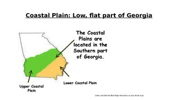 Georgia Habitats and Organisms POWERPOINT WITH NOTES- 3rd Science