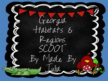 Georgia Habitats and Regions SCOOT- great for GA Milestone!
