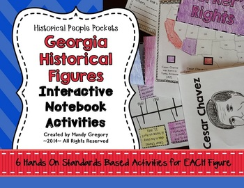 Georgia Historical Figures Bundle and Review (Historical People Pockets)