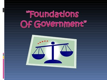 Georgia History - Foundations of Government Review