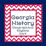 Georgia Studies-Georgia History Geographical Regions Sort