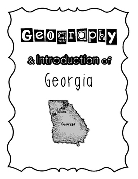 Georgia History- Introduction to Georgia and Its Regions Complete Unit Bundle