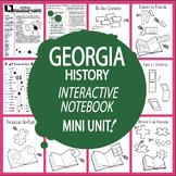 Georgia History Interactive Notebook Unit + AUDIO – Hands-On Georgia State Study