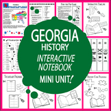 Georgia History State Study Interactive Unit + AUDIO – DISTANCE LEARNING
