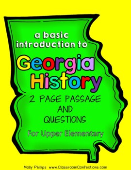 Georgia History: Non-Fiction Reading Passage about Georgia