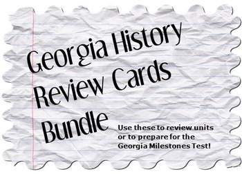 Georgia History Review Cards Bundle