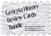Georgia History Review Cards Bundle