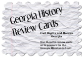 Georgia History Review Cards: Civil Rights and Modern Georgia