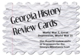 Georgia History Review Cards: World War I, Great Depression, World War II