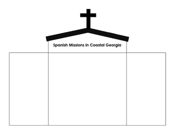 Georgia History: Spanish Missions Notebook templates