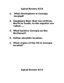 Georgia History Spiral Review