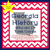 Georgia Studies-Georgia History Who Am I? Task Cards