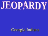 Georgia Indians Jeopardy Game PowerPoint