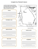 Georgia Key Features/Physical Features Graphic Organizer