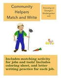 Georgia Kindergarten Community Helpers Activity