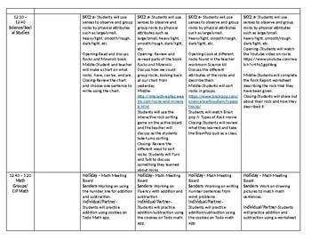 Georgia Kindergarten Lesson plan 4 day plan