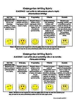 Georgia Kindergarten Writing Rubric