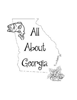 Georgia Lapbook/Interactive Notebook.  US State History. Geography