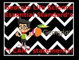 "Georgia Life Science Essential Standard's ""I Can"" Statemen"